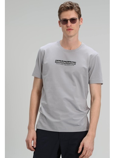 Lufian Tişört Gri